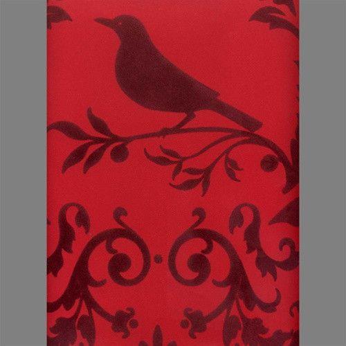 Burgundy-and-Red-Bird-Damask-Velvet-Flocked-Wallcovering-design-by-Burke-Decor-wallpaper-wp3004014