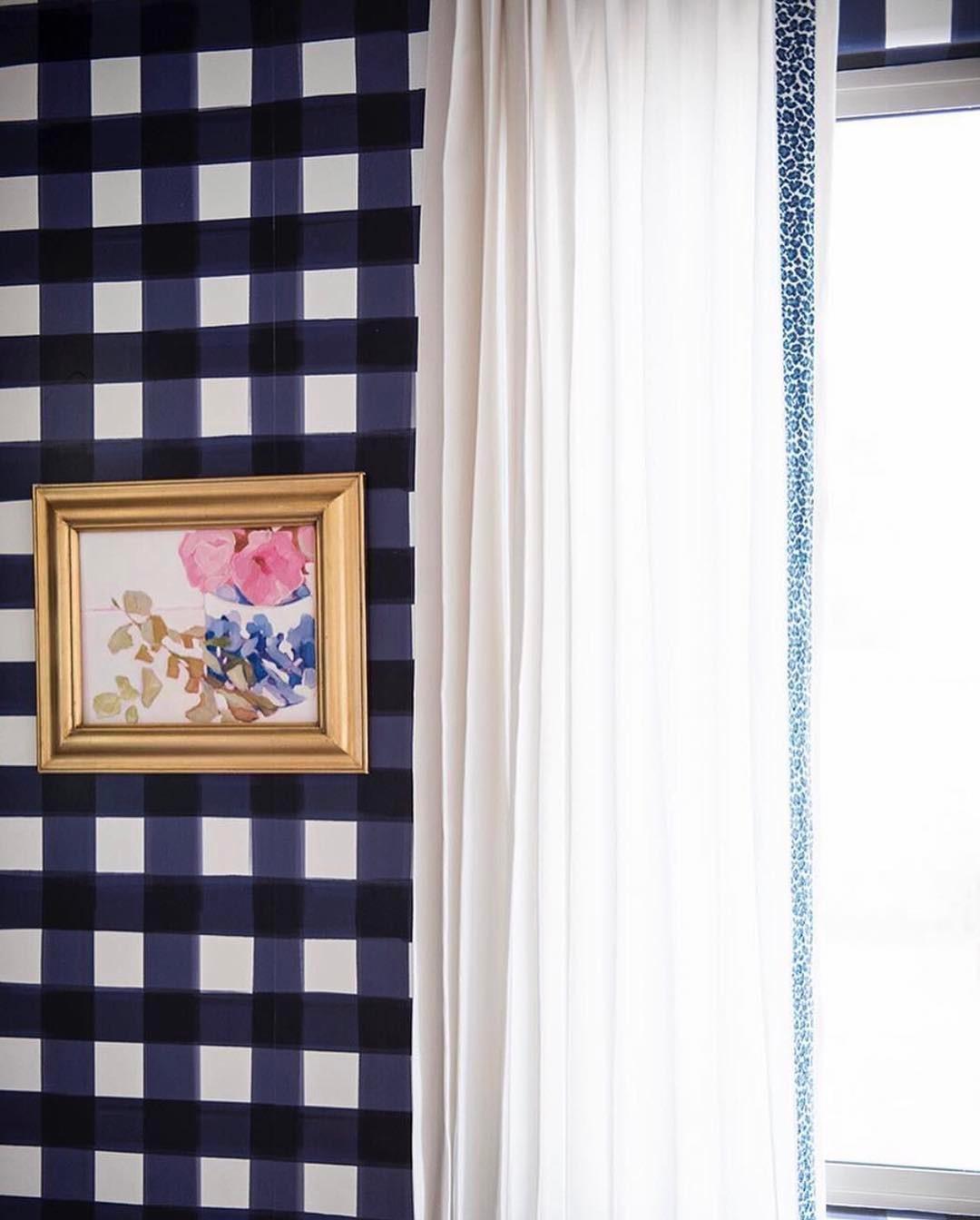 Burnside-Buffalo-Check-in-Navy-Caitlin-Wilson-wallpaper-wp3004018