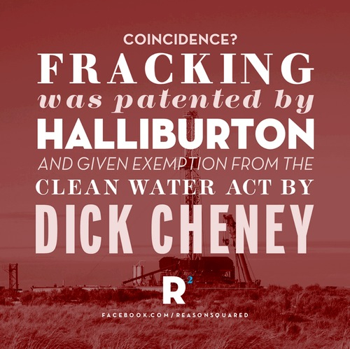 CHENEY USED HIS POSITION TO EXEMPT FRACKING FROM THE CLEAN WATER ACT KNOWS POISO Wallpaper Wp3004318