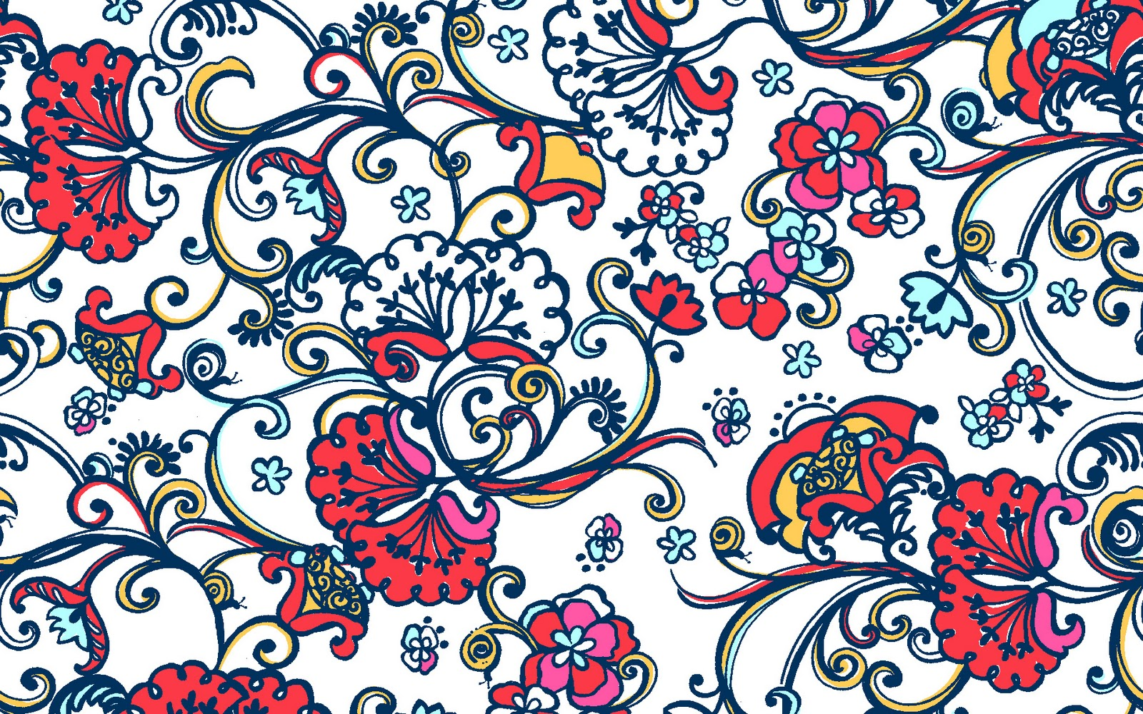 Lilly pulitzer floral desktop wallpaper