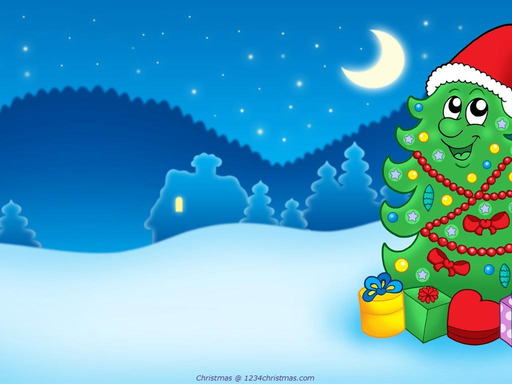 Cartoon-Christmas-Tree-Wallpaper-Download-wallpaper-wp4805098