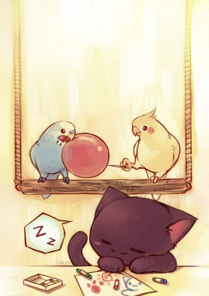 Cat-drawing-wallpaper-wp5005787