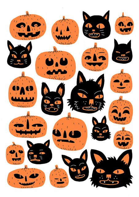 Cats-and-Pumpkins-by-Jack-Teagle-wallpaper-wp4405611