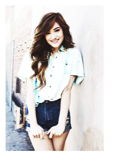 Chachi-Gonzales-blouse-and-high-waisted-shorts-wallpaper-wp3004257