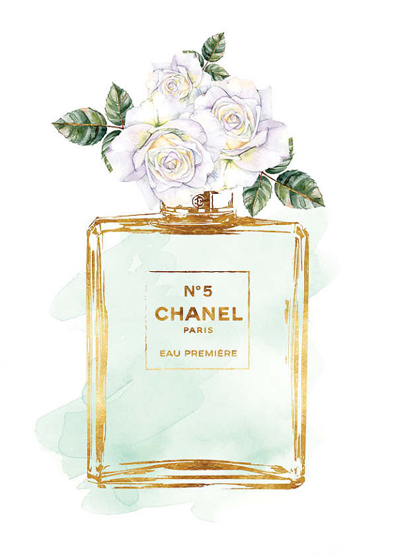 Chanel-No-print-A-White-roses-watercolor-with-by-hellomrmoon-wallpaper-wp5205103