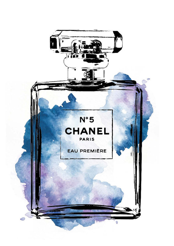 Chanel-No-water-color-A-digital-print-Chanel-by-hellomrmoon-wallpaper-wp5005857