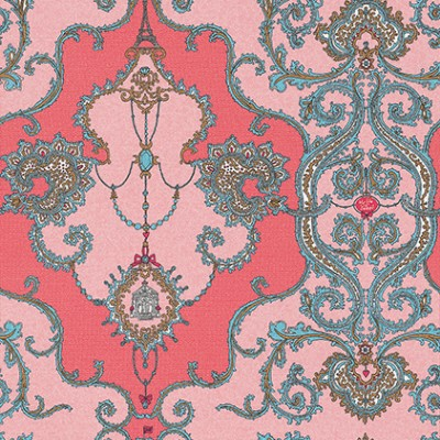 Charm-Damask-Albany-A-stunning-damask-design-in-two-shades-of-bright-pink-wallpaper-wp6002648