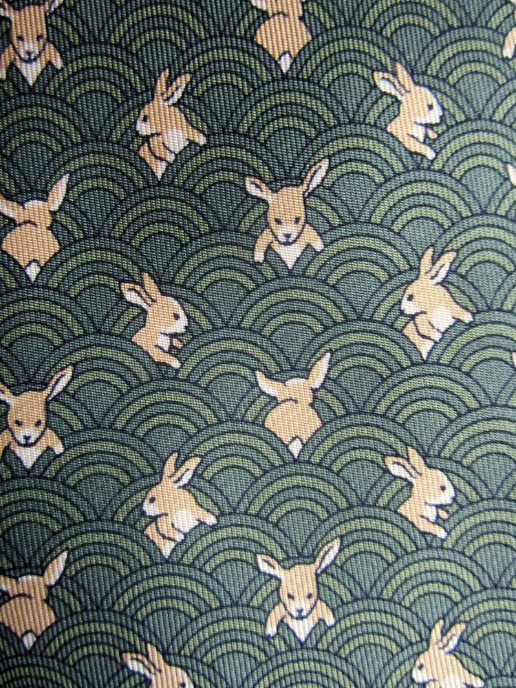Charming-bunnies-all-over-the-Hermes-tie-wallpaper-wp5404030