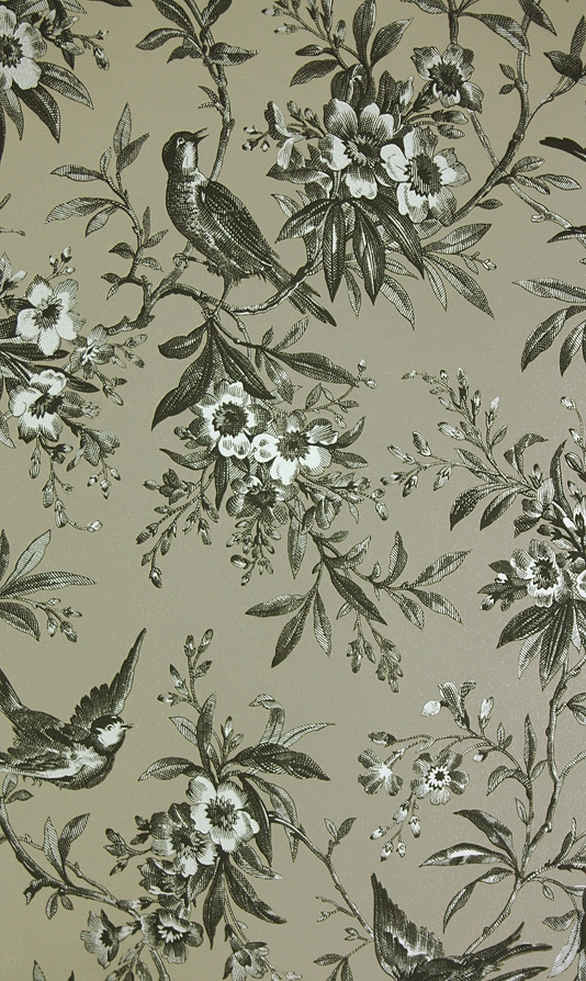 Chelsea-Morning-Toile-A-toile-featuring-birds-amongst-flowering-branches-in-blac-wallpaper-wp424458-1