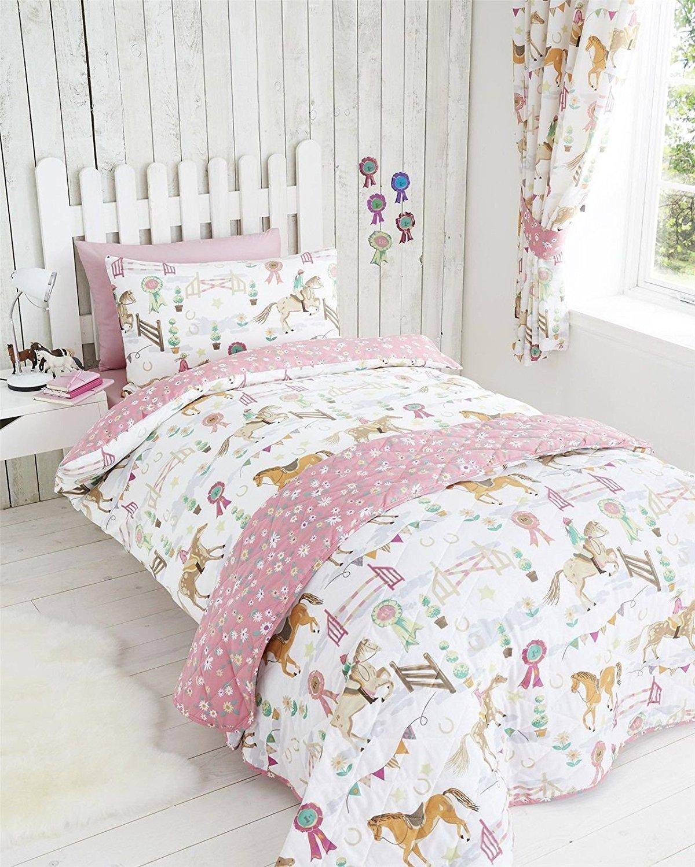 Childrens-boys-girls-double-bed-duvet-set-horse-show-jockey-horses-bedding-quilt-cover-set-white-dai-wallpaper-wp4805237