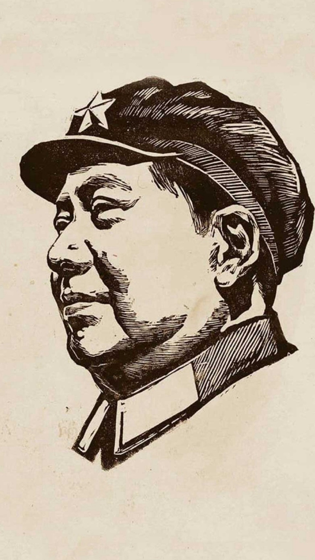 Chinese-Revolutionary-Leader-Portrait-Drawn-Art-iPhone-s-wallpaper-wp424516-1
