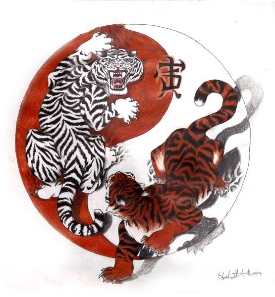 Chinese-Tigers-Yin-Yang-Tattoo-Design-wallpaper-wp5603829