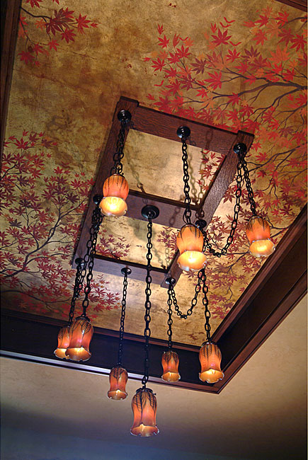 Chinoiserie-Ceiling-done-with-wallpaper-wp5205170