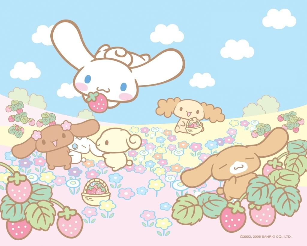 Cinnamoroll-strawberry-and-flower-field-D-wallpaper-wp4003978