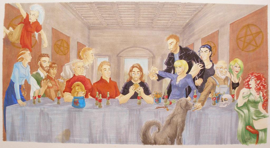 Codex-Alera-Dresden-Files-Last-Supper-Jim-is-at-the-center-with-Kitai-Isana-Bernard-Amara-Ehren-wallpaper-wp4604908-1
