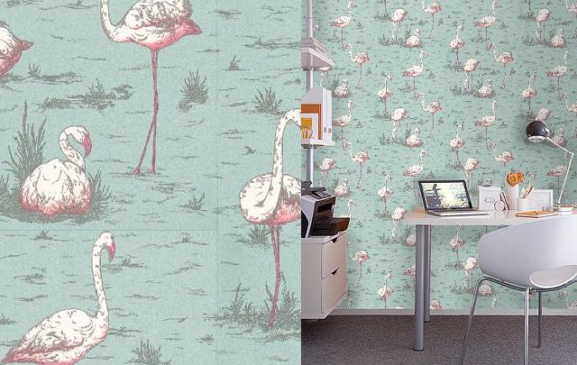 Papier Peint Flamingos