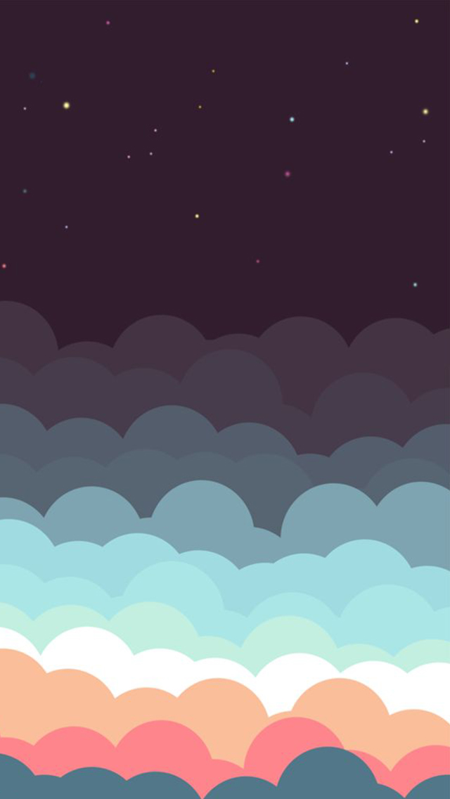 Colorful-Clouds-And-Stars-Illustration-iPhone-Wallpaper-iPod-Wallpaper-HD-Free-Download-wallpaper-wp4805433