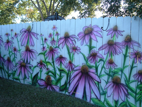 Coneflowers-Airbrushed-on-Fence-or-how-to-create-a-stunning-fence-to-enhance-your-landscape-wallpaper-wp3004533