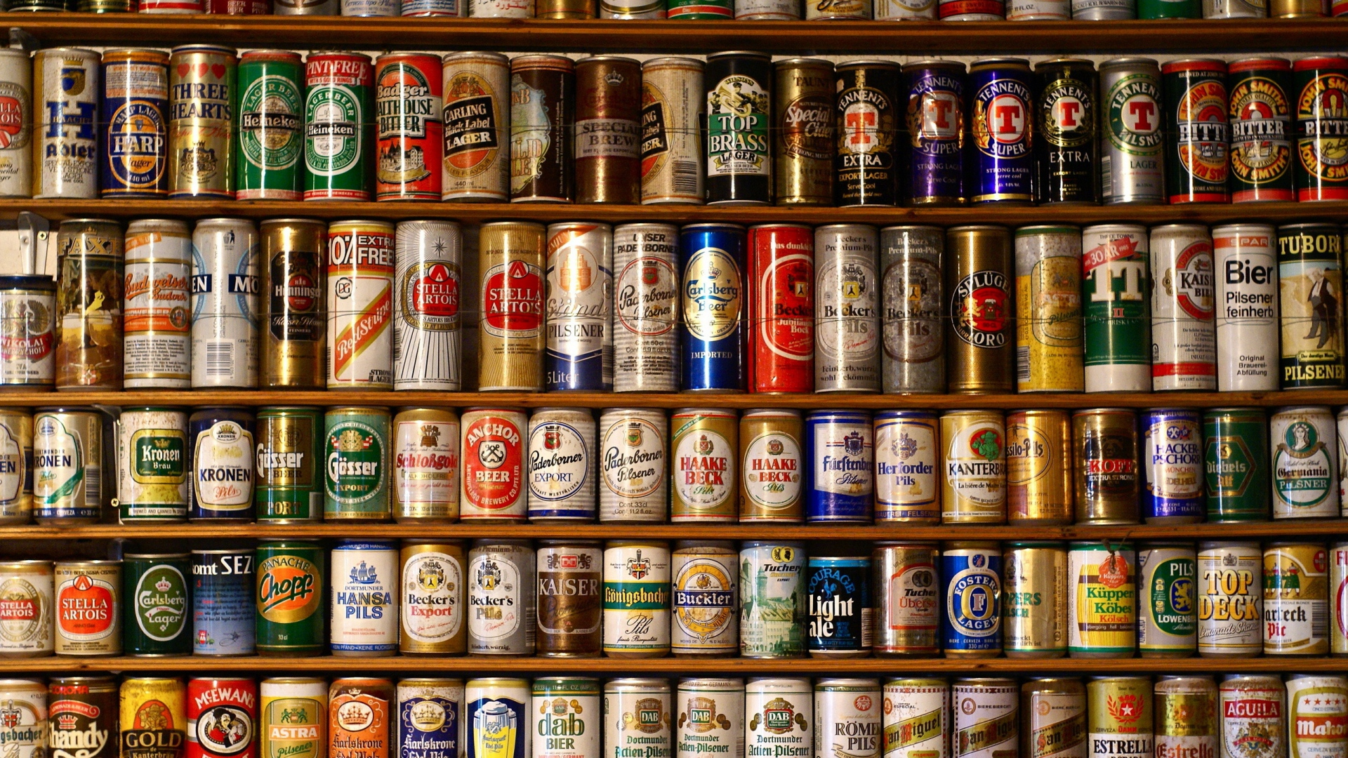 Cool-display-of-collected-beer-cans-One-of-my-many-collections-as-a-kid-wallpaper-wp3604290