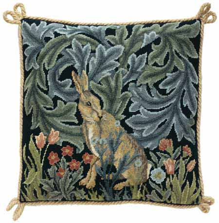 Cushions-with-William-Morris-designs-from-his-Forest-tapestry-done-in-wallpaper-wp5804795