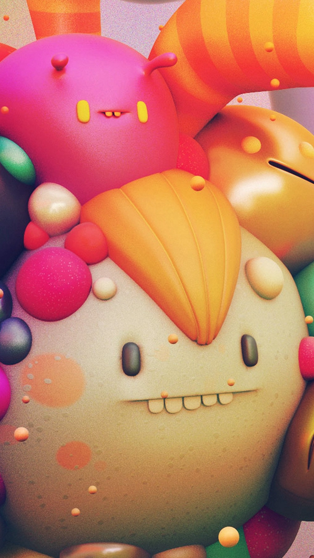 Cute-Monster-Character-D-Illustration-Art-iPhone-s-wallpaper-wp424777-1
