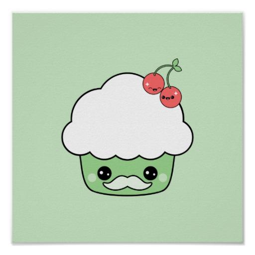 Cute-Mustache-Cupcake-Posters-wallpaper-wp4605091