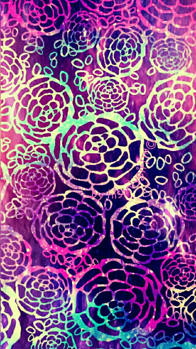 Cute-floral-glow-galaxy-I-created-for-the-app-CocoPPa-wallpaper-wp3004699