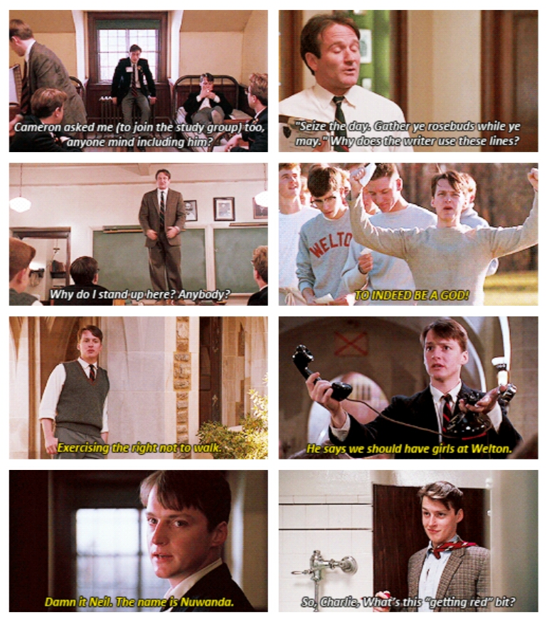 the similarities and differences between charlie dalton and richard cameron in dead poets society a  Dead poets society (1989) cursed be the social wants that sin against the strength of youth cameron quickly shows himself as possibly the most conformist among the circle of friends who in the meantime charlie dalton brings two girls to one of the dead poets society meetings, where he.