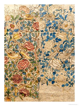 Design-for-Chintz-Rose-WIlliam-Morris-design-wallpaper-wp5805069