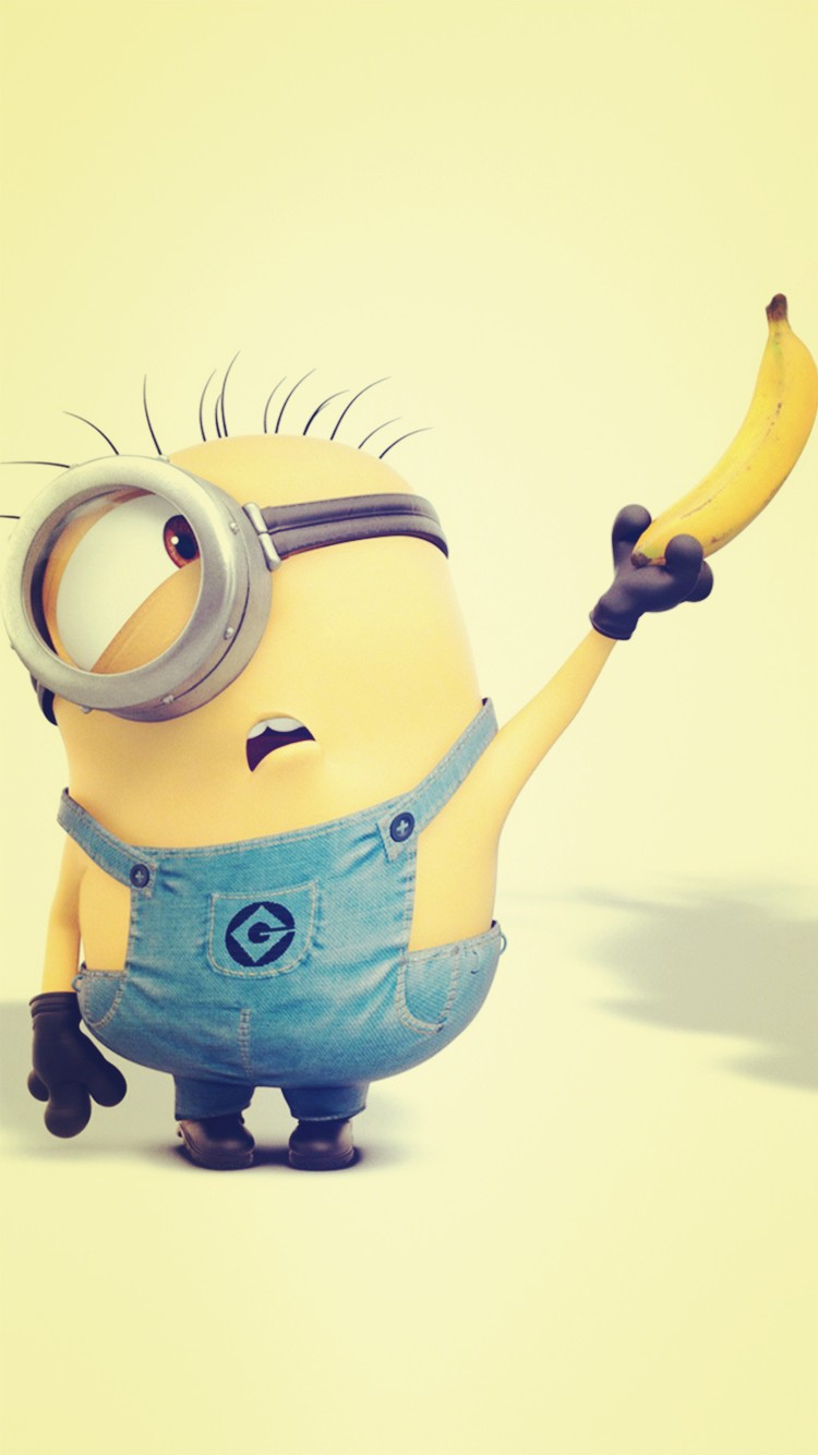 Despicable-Me-inspired-yellow-minion-and-banana-iphone-for-Halloween-wallpaper-wp5805081