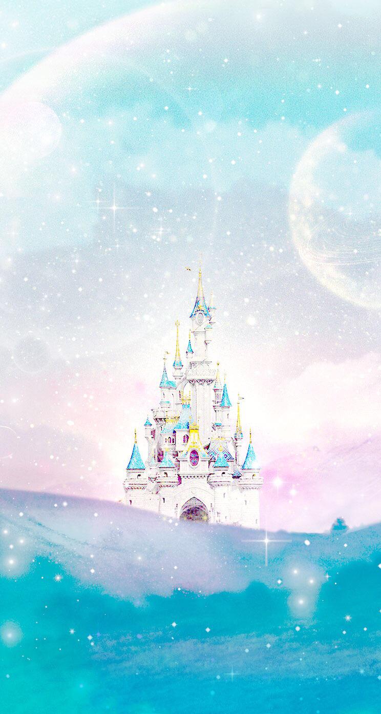 Disney-castle-Line-iphone-wallpaper-wp424974-1