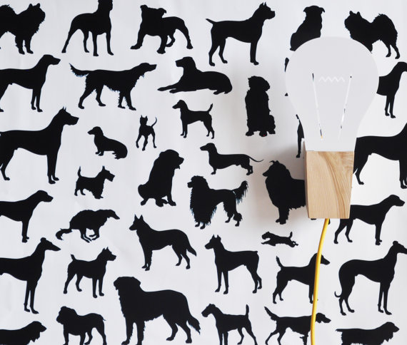 Dog-Frenzy-WALL-PAPER-TILE-METALLIC-colors-not-available-for-this-listing-The-color-chosen-will-wallpaper-wp3005081