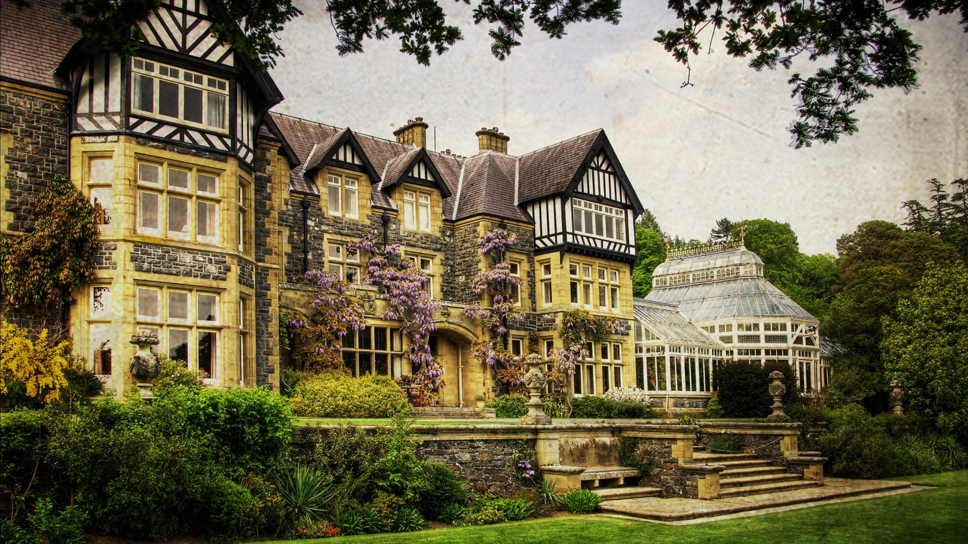 Download-Wales-garden-treatment-trees-the-bushes-mansion-UK-house-Bodnant-Gardens-wallpaper-wp3404990