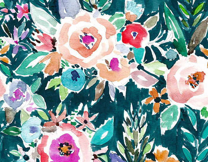 Download-this-beautiful-floral-pattern-from-Oakland-watercolor-pattern-designer-Barbra-Ignatiev-It-wallpaper-wp3005146