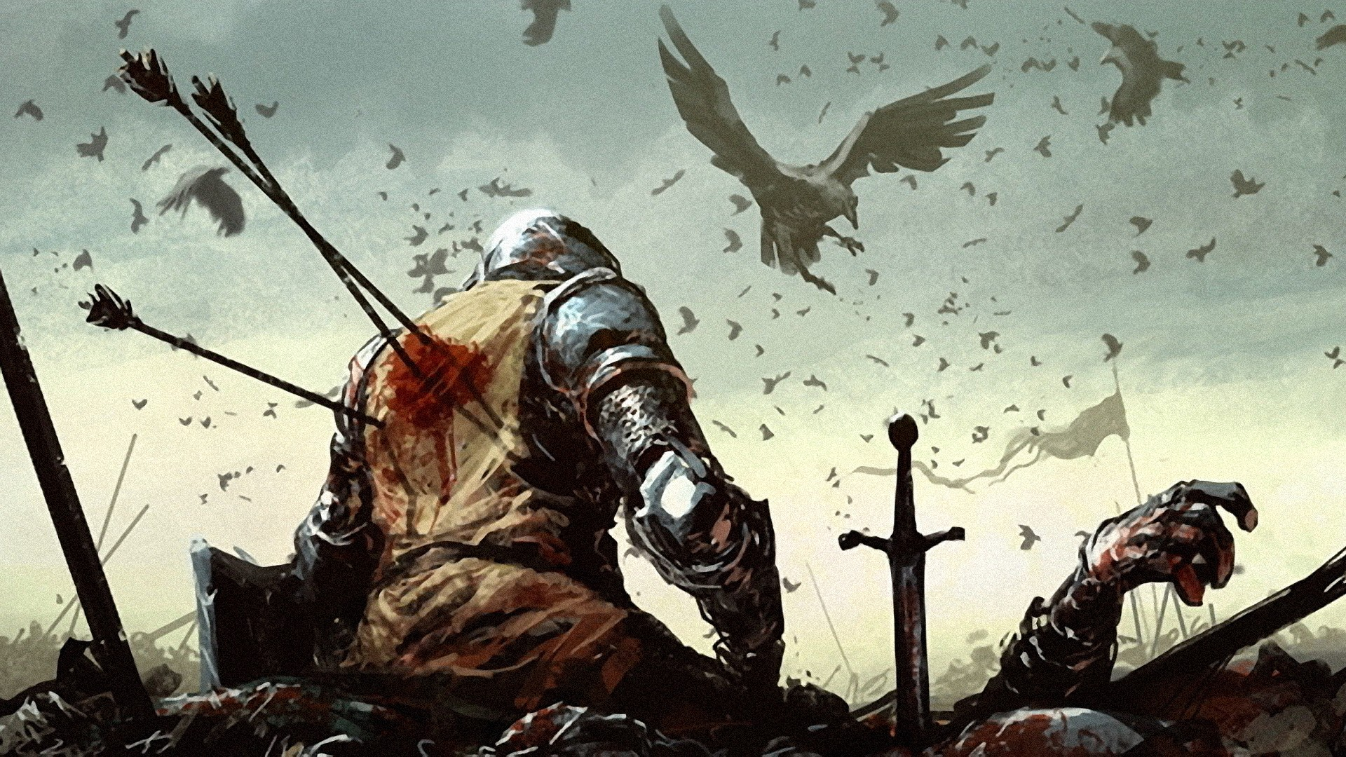 Dying-Warrior-They-are-coming-to-eat-the-fallen-wallpaper-wp3605256