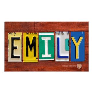 EMILY-License-Plate-Letter-Name-Custom-Sign-Poster-wallpaper-wp5604599