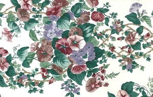 ENGLISH-COTTAGE-Cranberry-Cream-Morning-Glories-VINTAGE-D-Rs-wallpaper-wp4406739