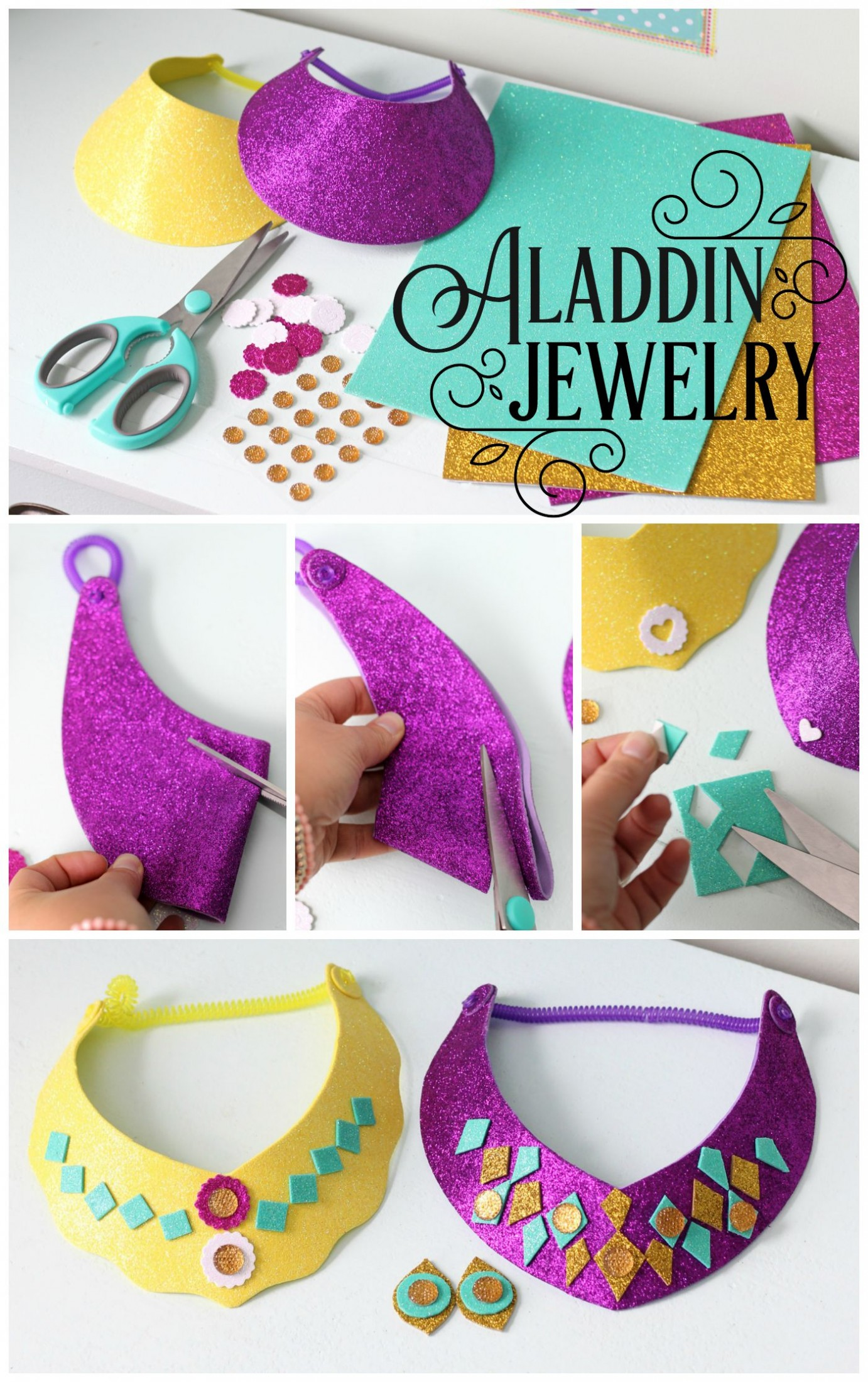 Easy-to-make-glitter-Princess-Jasmine-necklace-and-stick-on-earrings-craft-Mess-free-perfect-Aladd-wallpaper-wp5007039