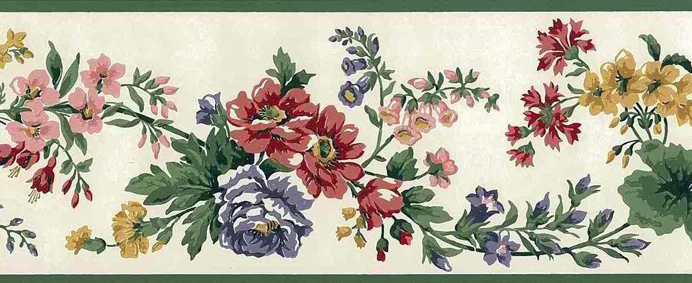 Eisenahart-VINTAGE-Red-Blue-Pink-Yellow-Green-Floral-Border-GP-Eisenhart-Cottage-w-wallpaper-wp4406697