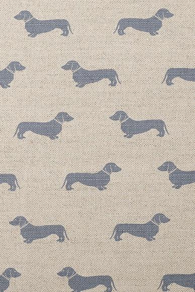Emily-Bond-Blue-Dachshund-Linen-Union-wallpaper-wp425156-1