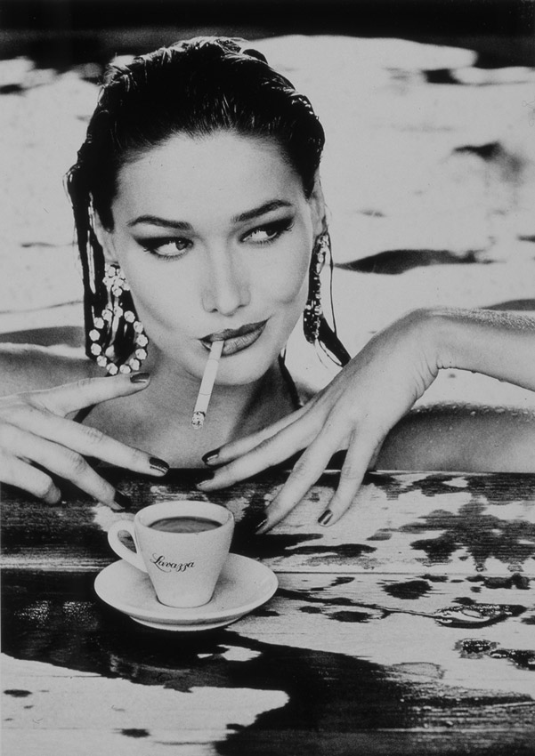 Espresso-a-cigarette-diamonds-and-water-Nice-combo-Carla-Bruni-Lavazza-Calendar-Ellen-wallpaper-wp3005387