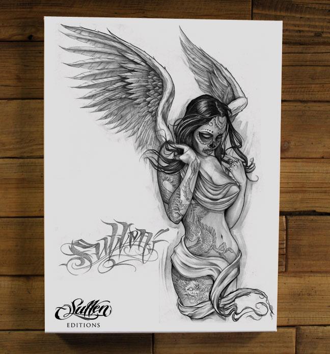 FALLEN-ANGEL-WHITE-GICLEE-wallpaper-wp5206343