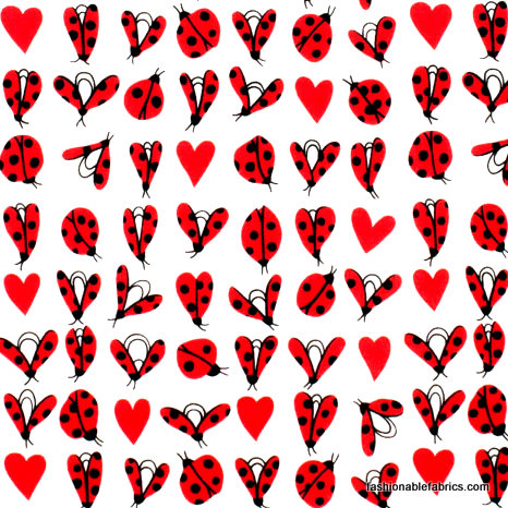 Fabric-Love-Bug-on-White-by-Alexander-Henry-Fabrics-wallpaper-wp3005481