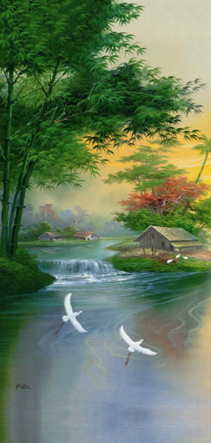 Falling-Brook-Door-Mural-wallpaper-wp4806333