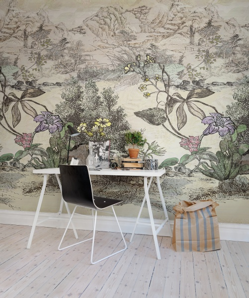 Fantasy-landscape-combining-vintage-japanese-drawing-with-old-botanical-drawings-rebelwalls-wall-wallpaper-wp5206376