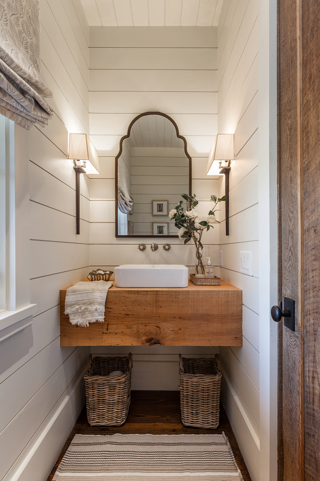 Farmhouse-Bathroom-with-shiplap-walls-floating-wood-slab-vanity-and-Roman-shades-Farmhouse-Bathroo-wallpaper-wp4004716-1