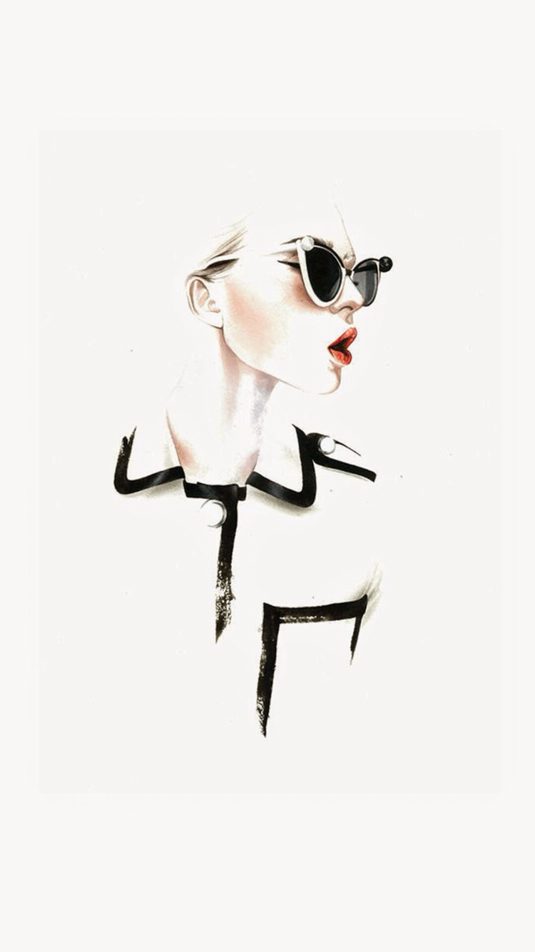 Fashion-illustration-Find-more-fashionable-for-your-iPhone-Android-@pretty-wallpaper-wp3005534