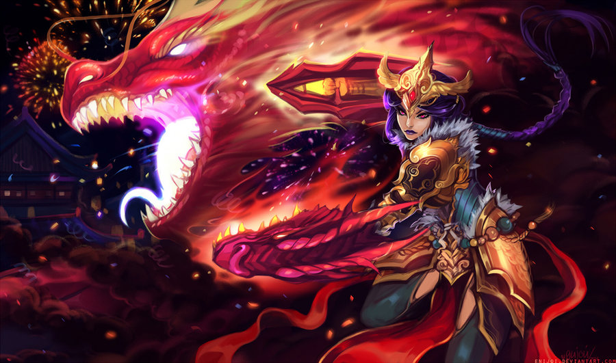 Festival-dragon-Shyvana-by-Enijoi-wallpaper-wp5206523
