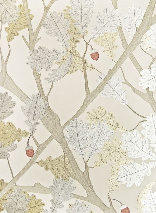 Feuille-de-Chene-Light-linen-with-metallic-silver-and-gold-oak-tree-illustration-wallpaper-wp5007481