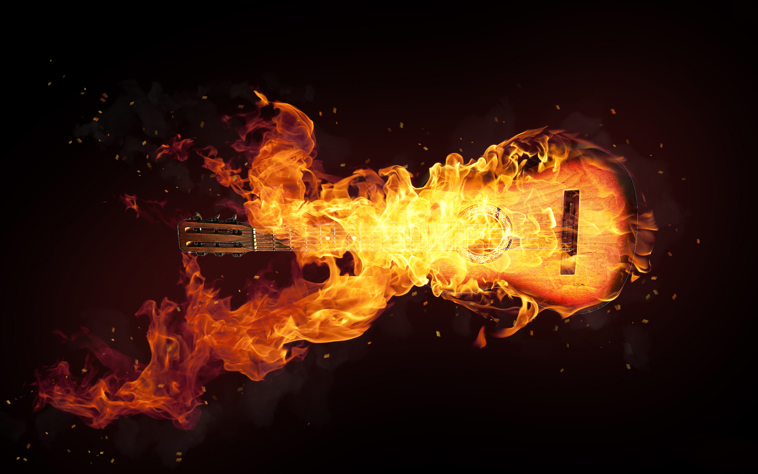 Fire-effect-guitar-HD-Fire-Effect-Art-Girl-Boy-Flower-Car-Dragon-Ball-Guitar-sk-wallpaper-wp3405545